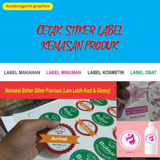 Stiker Label Produk